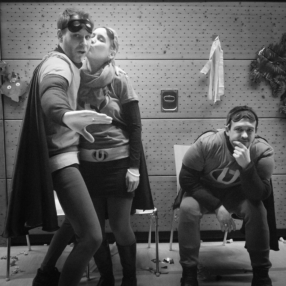 Superheroes after work